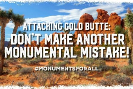 Friends of Gold Butte Responds to DOI Final Monuments Report