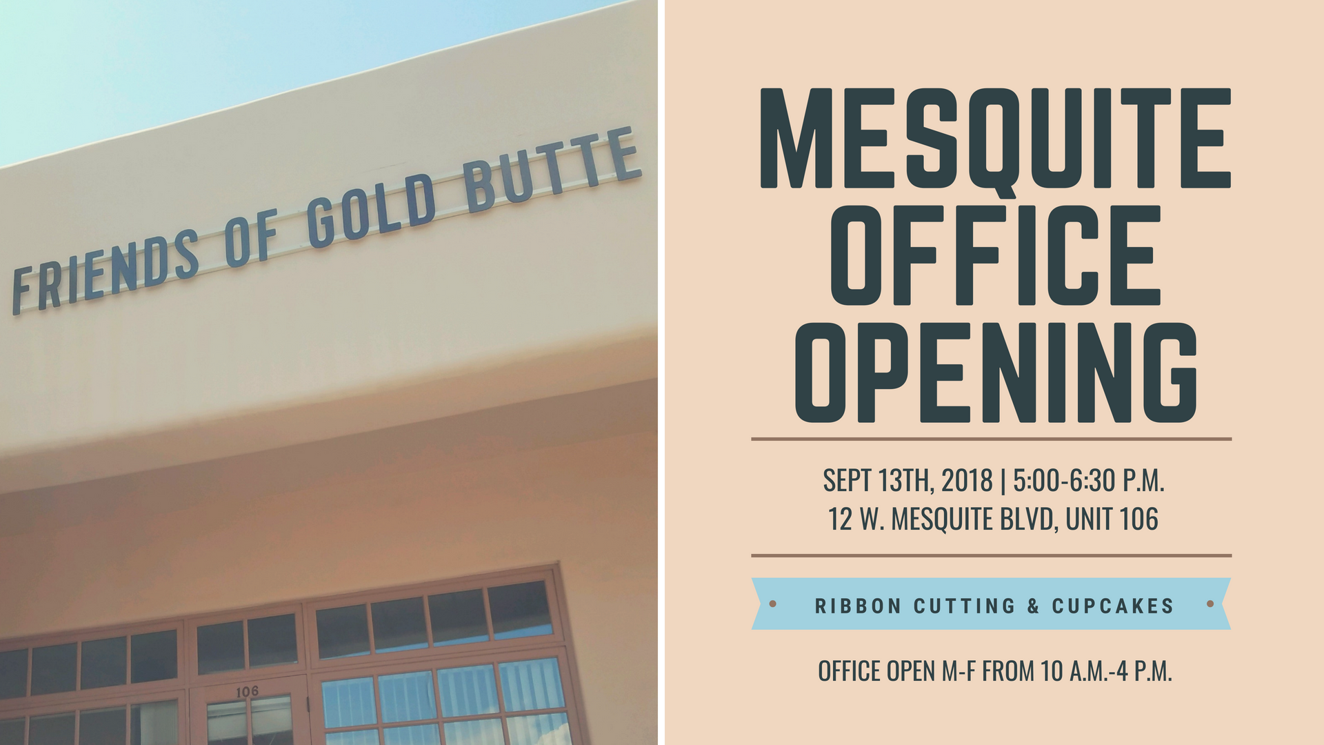 New Office is Opening in Mesquite, NV – Friends of Gold Butte